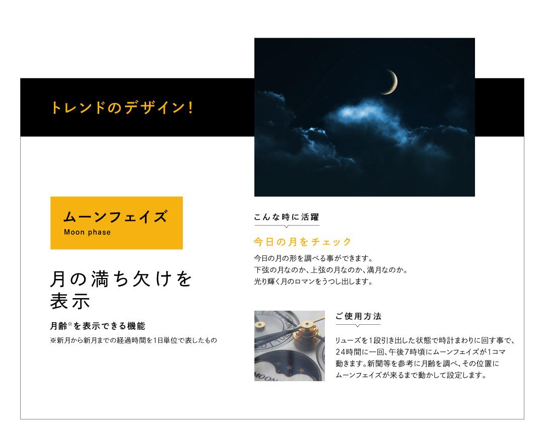 ムーンフェイズ。月の満ち欠けを表示。